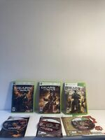 Gears of War Bundle 1 2 and 3 Xbox Complete with Manual Tested!
