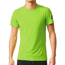 Men's New Adidas Prime Running T-Shirt Top - Fitness Gym Training Gym - Green
