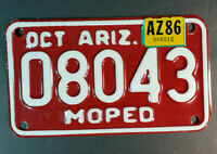 Vintage Arizona AZ Moped OCT License Plate AZ86 # 08043