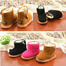 Toddler Baby Children Boy Kids Winter Fur Snow Boots Warm Shoes Booties Casual