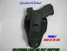 USA Tuckable Leather BLK Concealed Carry Holster 380 S&W BODYGUARD W/LASER RT LF