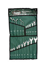 KAMASA METRIC COMBINATION & CRANKED SPANNER WRENCH SET 20 PIECE IN TOOL ROLL