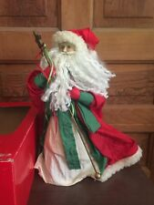 Vintage Midwest 14 Inch Old World Santa Claus Christmas Tree Topper