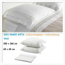 IKEA Emmie SPETS überschlaglaken / Funda de cojín, blanco, 200x260/65x65 cm