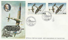 Nevis 4931 - 1986 SPITFIRE $2.5 IMPERF PAIR on FIRST DAY COVER