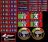 Patch Carabinieri GRUPPO SANGUIGNO BANDIERA ESTERO ARABO K9 toppa TERMOADESIVO
