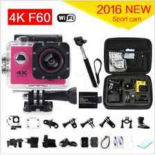 Action Camera 4K F60 WiFi 15fps  Helmet Cam 30M Waterproof