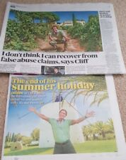 Cliff Richard 5.5 pages clippings from the Sunday Times 10/09/17
