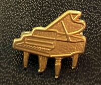 Vintage Grand Piano Brooch Musician Pianist Pin Gold Toned Jewelry