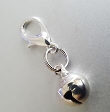 Real Bell Reminder to stay Present in the moment Silver Clip on Charm pendant