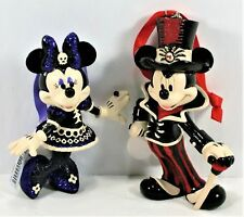 DISNEY PARKS HALLOWEEN MICKEY MOUSE & MINNIE ORNAMENTS 2 IN A SET, BNWTS NEW