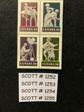 Canada, Performing Arts, S#1252 -1255, 4 Sets of 1 Block of 4. Mnh