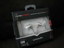 New V-moda Remix Remote Earphone W/volume Control Noise Insolation Chrome