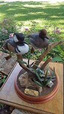 Vtg Merganser Duck Woodcarving Wood Carved Decoy Sculpture Barbara Nelson Moats