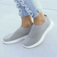 Womens Casual Sock Mesh Shoes Trainers Flat Slip On Comfy Pumps Sneakers Size