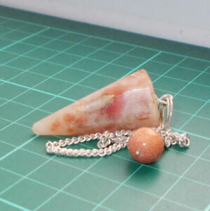 Auction Sunstone Point Dowsing Pendulum Gemstone Crystal Dowser
