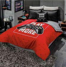 Gamer Console Game Controller Kids Boys Comforter Reversible Teens QUEEN 4PCS