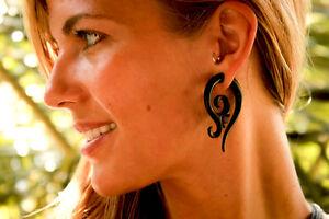 Ear Gauge Spiral Organic Tribal Stretcher Horn Pair Expander Piercing Bone Hook