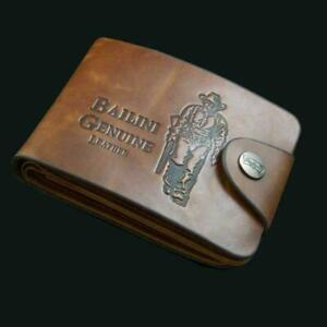 Men's Leather Wallet ID Credit Card Holder Clutch Bifold Pocket Coin Purse NEW