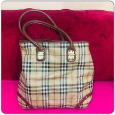 Vintage Burberry Haymarket Check Tote Handbag Pocket Purse
