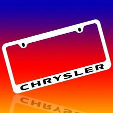 CHRYSLER *CHRYSLER* GENUINE ENGRAVED CHROME LICENSE PLATE FRAME TAG HOLDER 2