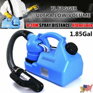 Portable Electric Fogger 7L ULV Sanitizer Disinfectant Cold Sprayer Machine 110V