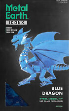 Fascinations ICONX 3D Metal Earth Laser Cut Steel Model Kit - BLUE DRAGON ICX114
