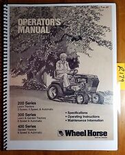 Heavy equipment manuals books ebay wheel horse 200 208 211 216 300 310 312 314 400 416 417 lawn tractor oper fandeluxe Image collections
