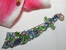 JAW DROPPING CROWN TRIFARI SWORD PIN WITH AMAZING STONES AND SPARKLE-EXCELLENT!