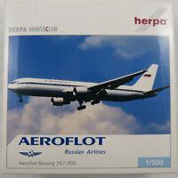 NEW HERPA WINGS CLUB 513081 AEROFLOT RUSSIAN AIRLINES BOEING 767-300 MIB 1:500