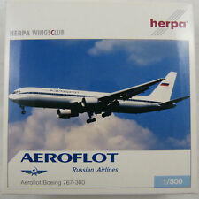 NEW HERPA WINGS CLUB 513081 AEROFLOT RUSSIAN AIRLINES BOEING 767-300 MIB 1:500