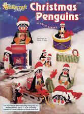 Christmas Penguins ----  plastic canvas book  ~  RARE