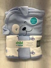 Child of Mine by Carter's Baby Boy Hooded Towel & Washcloth Set Puppy Dog Blue