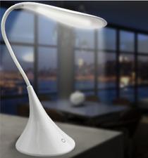 Desk Lamp LED USB/Battery Powered-Swan Shape w/Flexible Neck On/Off Touch Sensor