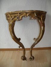 Original Barock Konsole Konsoltisch vergoldet Blattgold geschnitzt Dachbodenfund