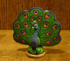 Jim Shore Heartwood Creek Minis #4055063 PEACOCK, New From Retail Store 3.25""