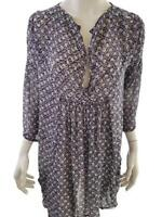 The Masai size L Dress flowers viscose 100% navy blue