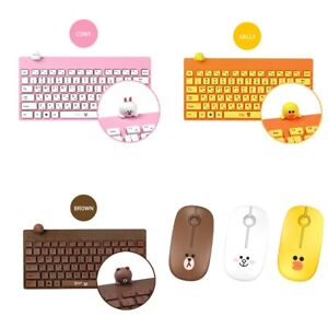 [Line Friends] Wireless Keyboard and Silent Mouse Set 2.4GHz 20M For PC Laptop