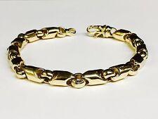 """10kt Yellow Gold handmade Link men's Chain Bracelet 8.25"""" 8 MM  42 grams"""