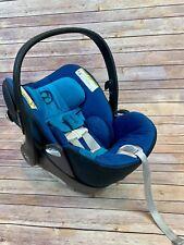 Cybex Cloud Q Platinum Car Seat True Blue Euc Includes Base and Infant Insert