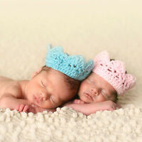 Newborn Baby Girls Boys Crochet Knit Crown Costume Photo Photography Prop Hot
