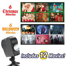 Christmas Halloween Laser Projector 12 Movies Disco Light Mini Window Display