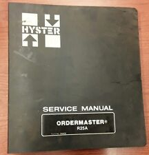 Hyster Service Ordermaster R25A, 599906, 4/82