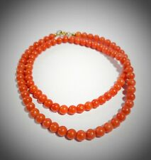 Choker Necklace Vintage - Red Coral Natural - Code Iy