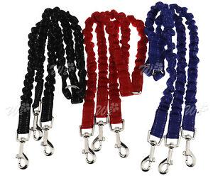 3 Way Smooth Triple Coupler 3 Dogs Walking Lead Leash Elastic Bungee Rope