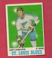 1970-71 OPC  # 96 BLUES GARY SABOURIN CARD