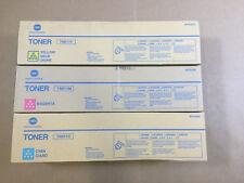 Genuine Konica TN611 CMY Color Set Toner for Bizhub C451 C550 C650 Same Day Ship