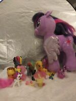 MLP My Little Pony Lot of Small Hasbro PONIES Figures Build A Bear Sparkles