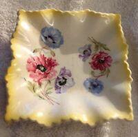 """VTG Old Foley James Kent Ltd Staffordshire England Flower 4""""x4"""" Decorative Plate"""