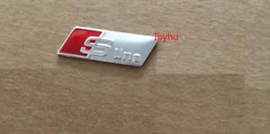 S Line Steering Wheel Sticker Emblem Badge Audi Silver A3 A4 A5 A6 S4 S5 S6 Q7